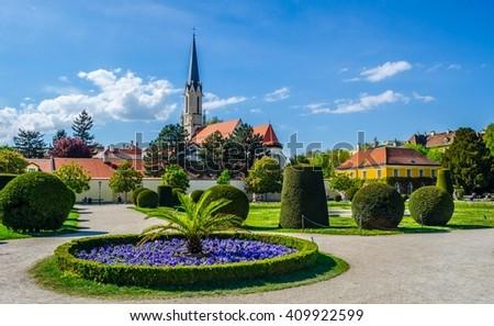 Catholic parish church Maria Hietzing near Schonbrunn palace, Vienna, Austria - stock photo