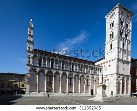 Catholic place of worship of Lucca, which is located in Piazza San Michele.