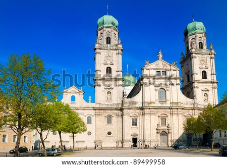 Catholic St Stephan cathedral in Passau, Germany