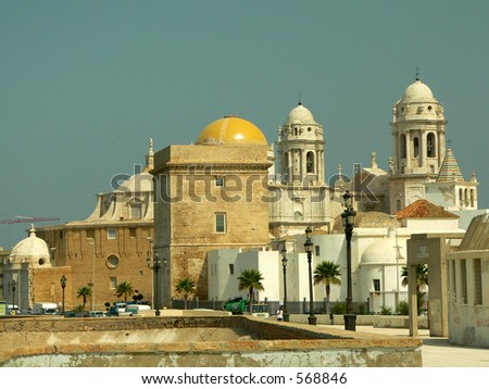 Cathredral in Cadiz, southern Spain