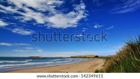Catlins New Zealand - stock photo