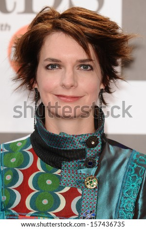 Catrin Finch arrives for the Classic Brit Awards 2013 at the Royal Albert Hall, London. 02/10/2013 - stock photo
