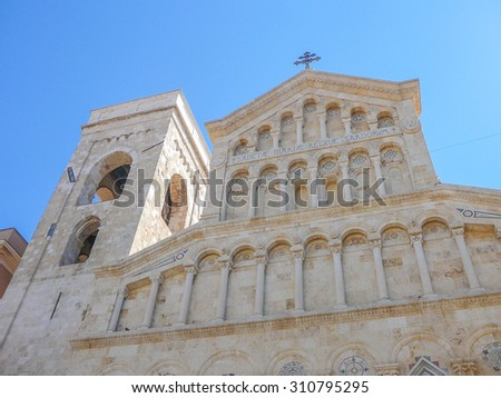 Cattedrale di Santa Maria meaning St Mary cathedral in Cagliari, Italy