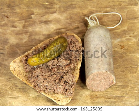 cattle sausages - stock photo