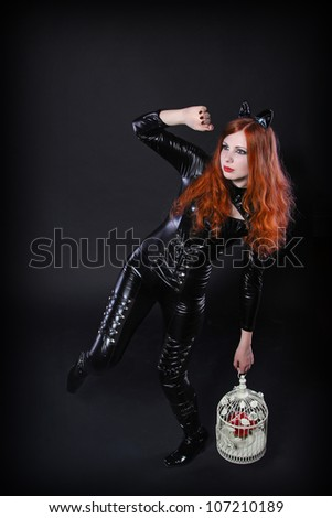 Catwoman - stock photo