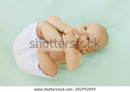 Caucasian baby boy  - stock photo