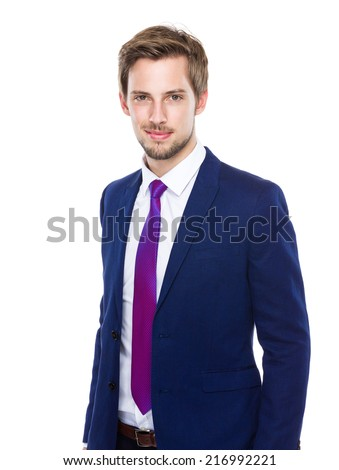 Caucasian businessman - stock photo