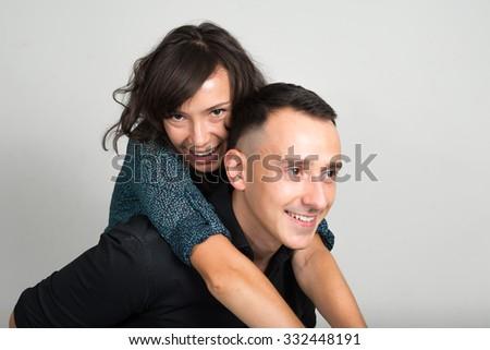 Caucasian couple - stock photo