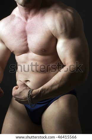 caucasian male body builder torso