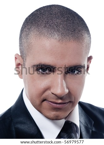 caucasian man businessman smile friendly portrait isolated studio on white background