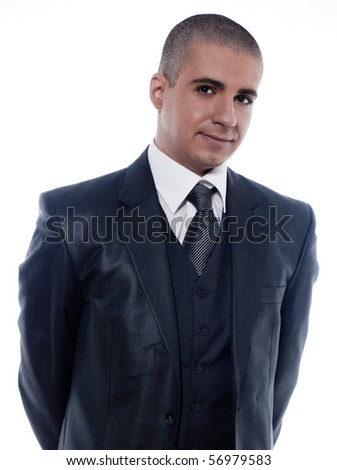 caucasian man businessman smiling cheerful portrait isolated studio on white background