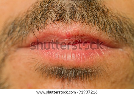 caucasian man closed mouth with mustache