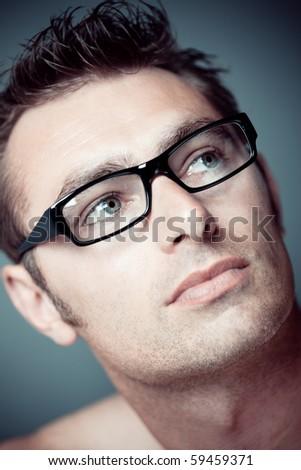 Caucasian man portrait - stock photo