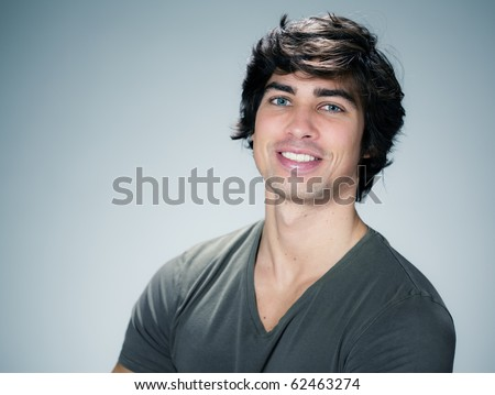 caucasian man portrait - stock photo