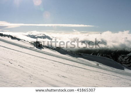Caucasian mountains - stock photo