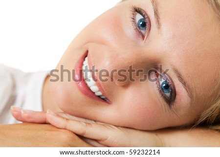 Caucasian young woman portrait - stock photo