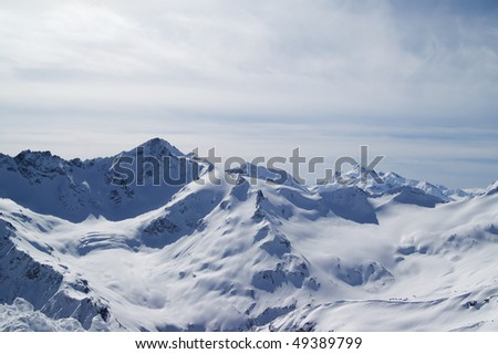 Caucasus Mountains. View from Elbrus.