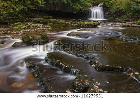 Cauldron Falls at West Burton, The Yorkshire Dales National Park - stock photo