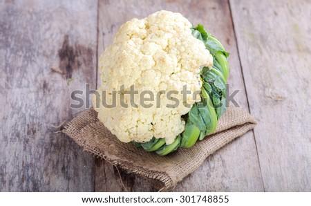 Cauliflower isolated on white background - stock photo