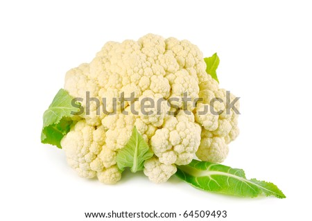 Cauliflower on a white background