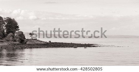Causeway Coastal Road, Route from Belfast to Giant's Causeway, County Antrim, Northern Ireland. - stock photo