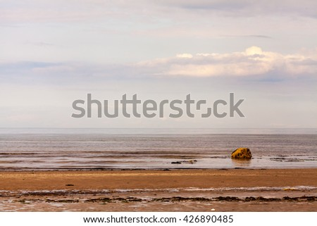 Causeway Coastal Road, Route from Belfast to Giant's Causeway, County Antrim, Northern Ireland, UK. - stock photo