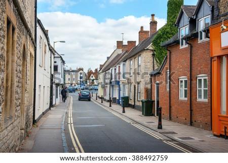 Causeway street. Bicester Village, Oxfordshire, England, UK - stock photo