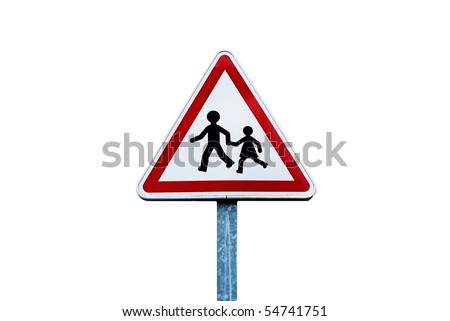 Caution Children at Play Sign - stock photo