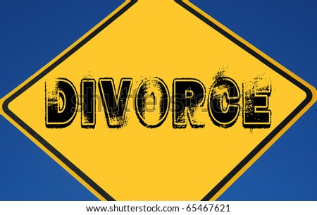 "Caution ""Divorce"" - stock photo"
