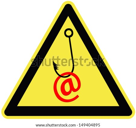 Caution email fraud. Symbol for the importance of protecting email traffic and passwords  - stock photo