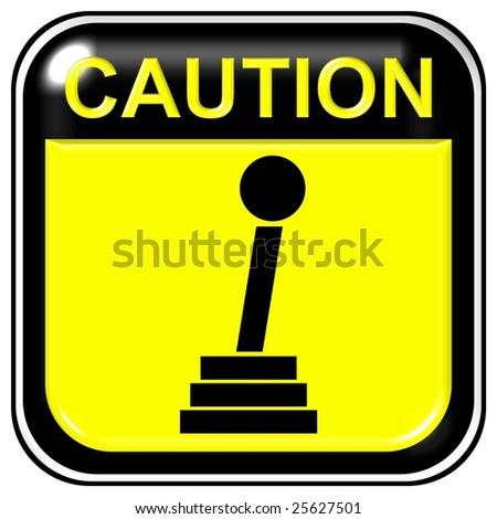 Caution - manual gear - stock photo
