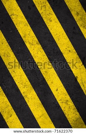 caution strip pattern - stock photo
