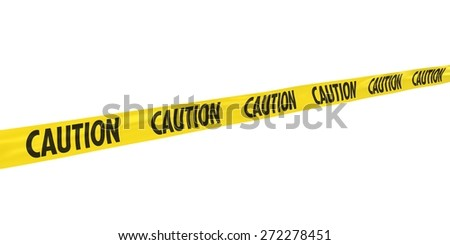 CAUTION Tape at Angle - stock photo