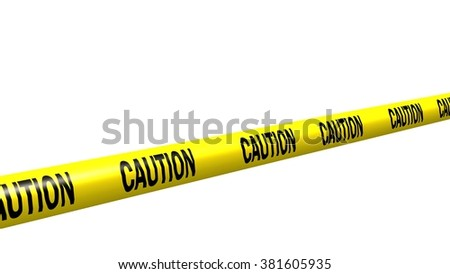 caution tape - isolated - stock photo