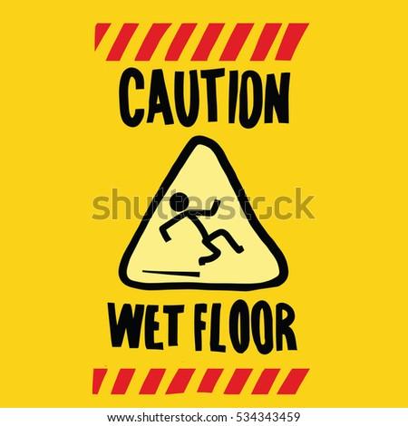 Wet Floor Vector Stock Vector 22955713 - Shutterstock