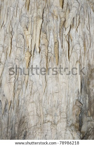 Cave ceiling covered with Stalactite - stock photo