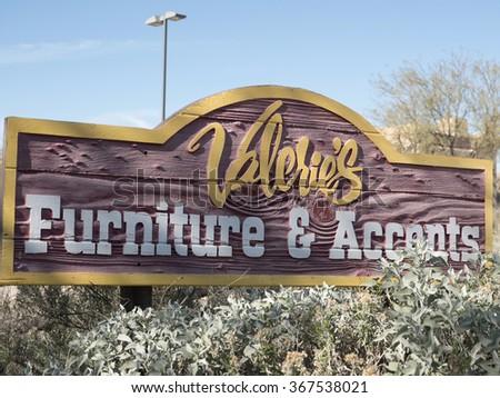 Cave Creek, Arizona, USA   14.01.2016: Logo Of Valerieu0027s Furniture U0026