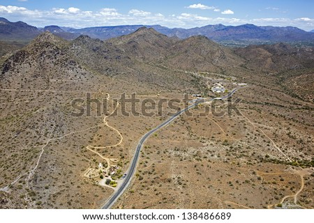 Cave Creek Parkway leading to picnic area and hiking trails