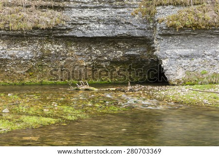 Cave In Spring - stock photo