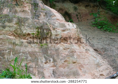 cave stone object nature travel locations color material - stock photo
