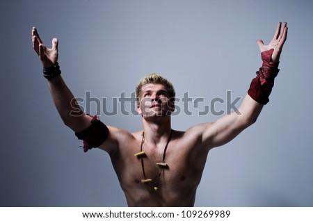 caveman - stock photo