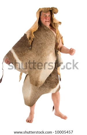 Caveman. 10,000 BC - stock photo