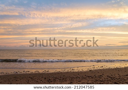 Cavendish beach in the morning (Green Gables Shore, Prince Edward Island , Canada) - stock photo