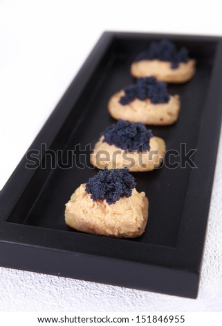 Expensive food stock photos images pictures shutterstock for Wooden canape trays