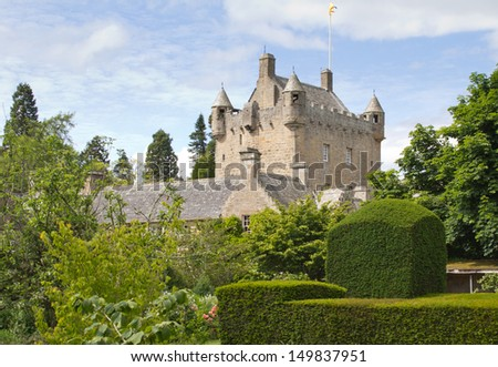 Cawdor Castle and gardens near Inverness, Scotland. - stock photo