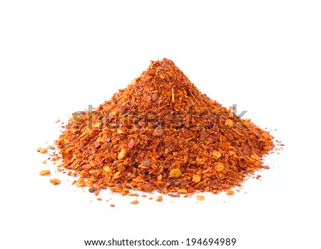 Cayenne pepper on white background - stock photo