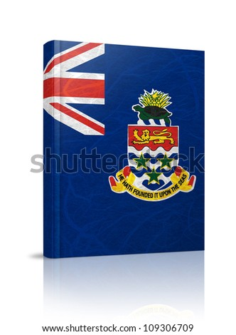 Cayman Islands flag book. Mulberry paper on white background. - stock photo