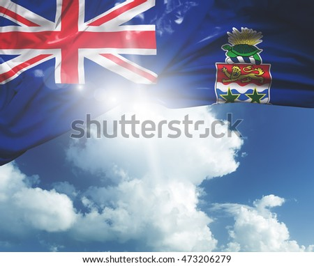 Cayman Islands flag on a beautiful day