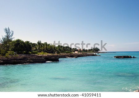 Cayman islands smith cove beach - stock photo