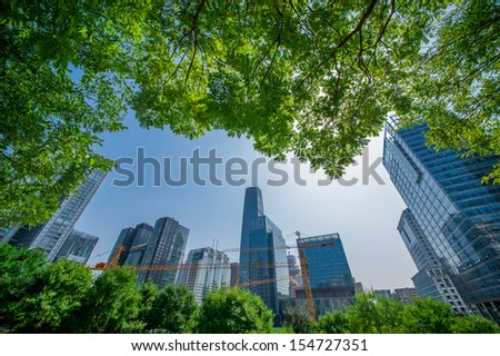 CBD buildings of Beijing - stock photo